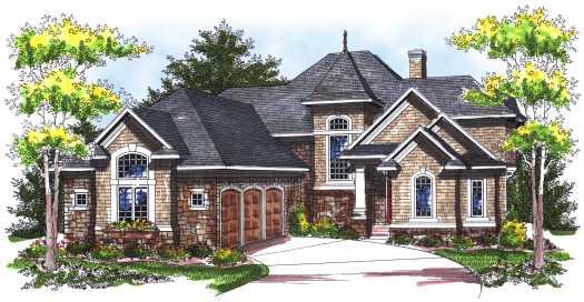 European Style House Plans Plan: 7-754