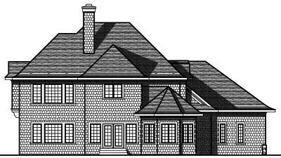 Rear Elevation Plan: 7-755