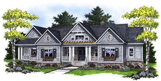 Southern Style Home Design Plan: 7-758