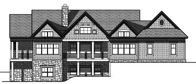 Rear Elevation Plan: 7-758