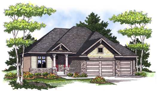 European Style Home Design Plan: 7-760