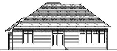 Rear Elevation Plan: 7-760