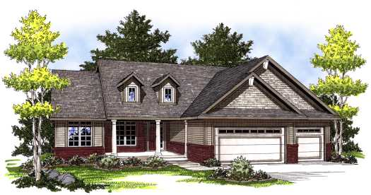 Traditional Style Home Design Plan: 7-762