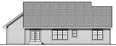 Rear Elevation Plan: 7-762