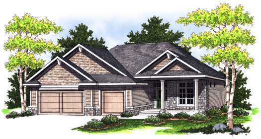 Traditional Style Floor Plans Plan: 7-763