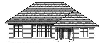 Rear Elevation Plan: 7-763