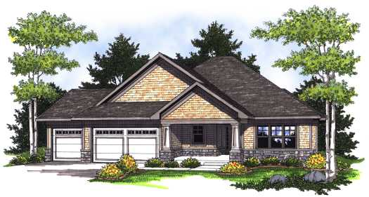 Craftsman Style Floor Plans Plan: 7-764