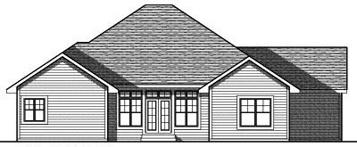 Rear Elevation Plan: 7-764