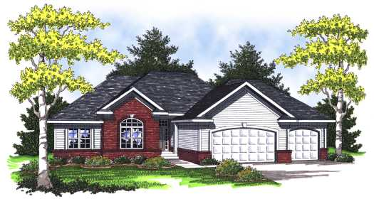 Traditional Style Home Design Plan: 7-765