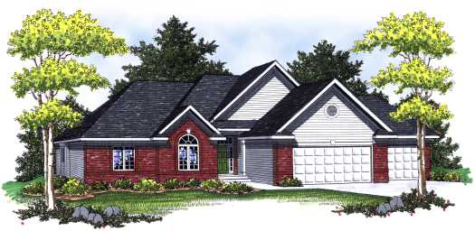 Traditional Style Home Design Plan: 7-766