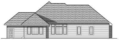 Rear Elevation Plan: 7-766