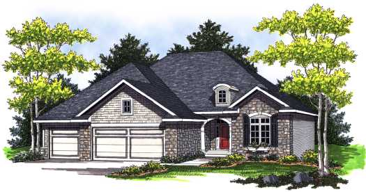 European Style Home Design Plan: 7-770
