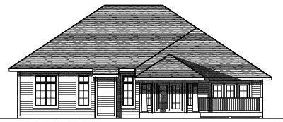 Rear Elevation Plan: 7-770