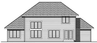 Rear Elevations Plan:7-771