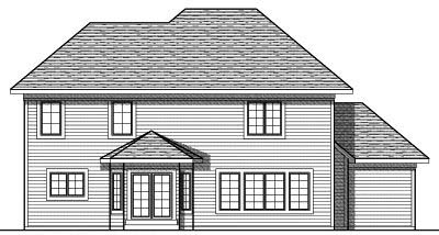 Rear Elevation Plan: 7-772