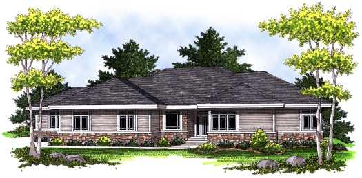 Prairie Style House Plans Plan: 7-773