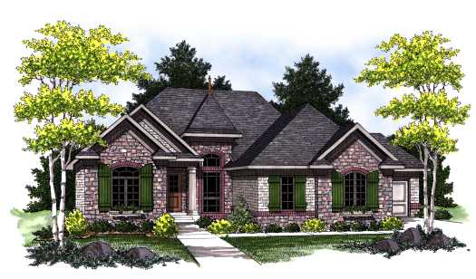 European Style House Plans 7-774