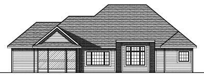 Rear Elevation Plan: 7-774
