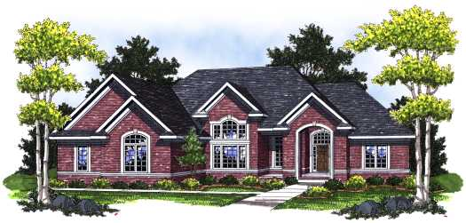 Traditional Style Home Design Plan: 7-775