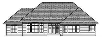 Rear Elevation Plan: 7-775