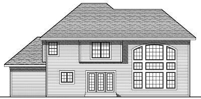 Rear Elevation Plan: 7-777