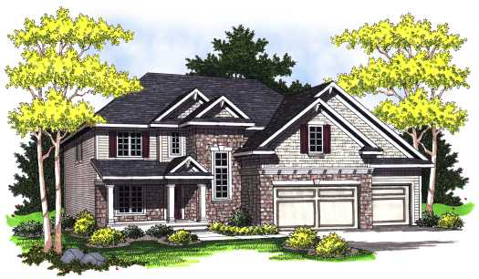 Traditional Style Home Design Plan: 7-779