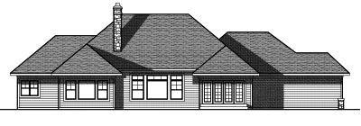 Rear Elevation Plan: 7-780