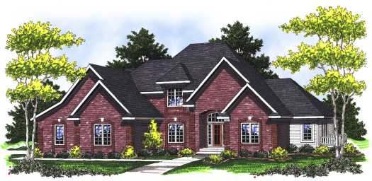 Traditional Style Home Design Plan: 7-781