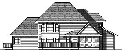 Rear Elevation Plan: 7-781