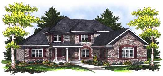 European Style House Plans Plan: 7-782