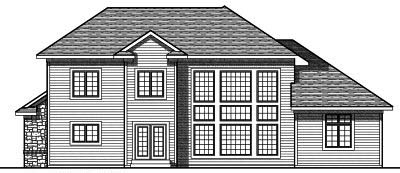 Rear Elevation Plan: 7-782