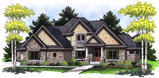 French-country Style Floor Plans Plan: 7-783