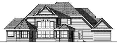 Rear Elevation Plan: 7-783