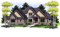 French-Country Style Home Design 7-783