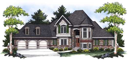 French-country Style Floor Plans Plan: 7-784