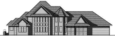 Rear Elevation Plan: 7-784