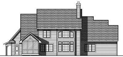 Rear Elevation Plan: 7-786