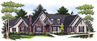 European Style Home Design Plan: 7-788