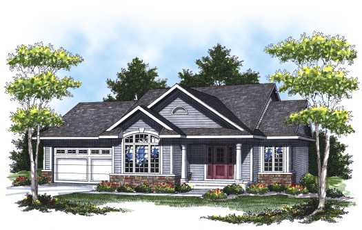 Traditional Style Home Design Plan: 7-790