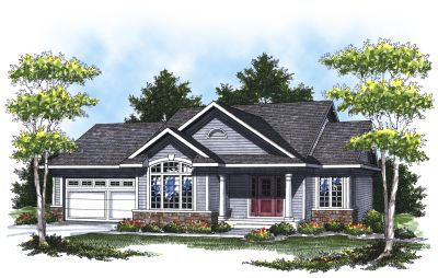 Traditional Style Home Design Plan: 7-791