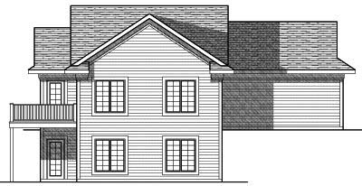 Rear Elevation Plan: 7-791