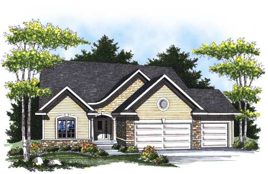 European Style Home Design Plan: 7-792