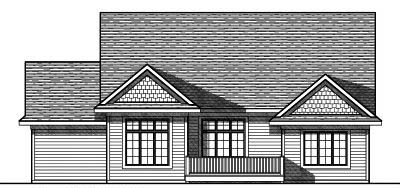 Rear Elevation Plan: 7-792