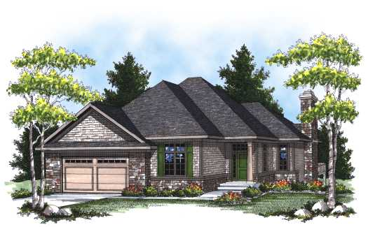 Traditional Style Home Design Plan: 7-793