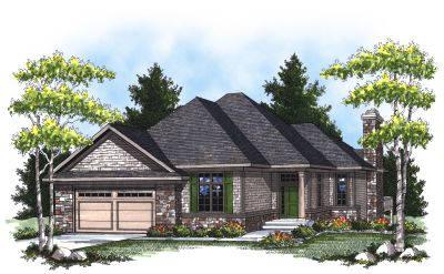 Traditional Style Home Design Plan: 7-794