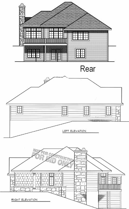Rear Elevation Plan: 7-794