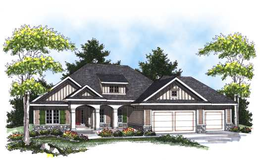 Southern Style Home Design Plan: 7-795