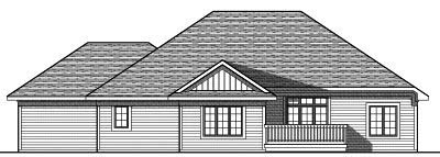 Rear Elevation Plan: 7-795