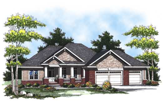 Craftsman Style Home Design Plan: 7-796