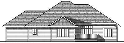 Rear Elevation Plan: 7-796